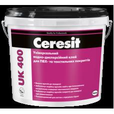 Клей для ПВХ і текстилю Ceresit UK 400, відро 14 кг