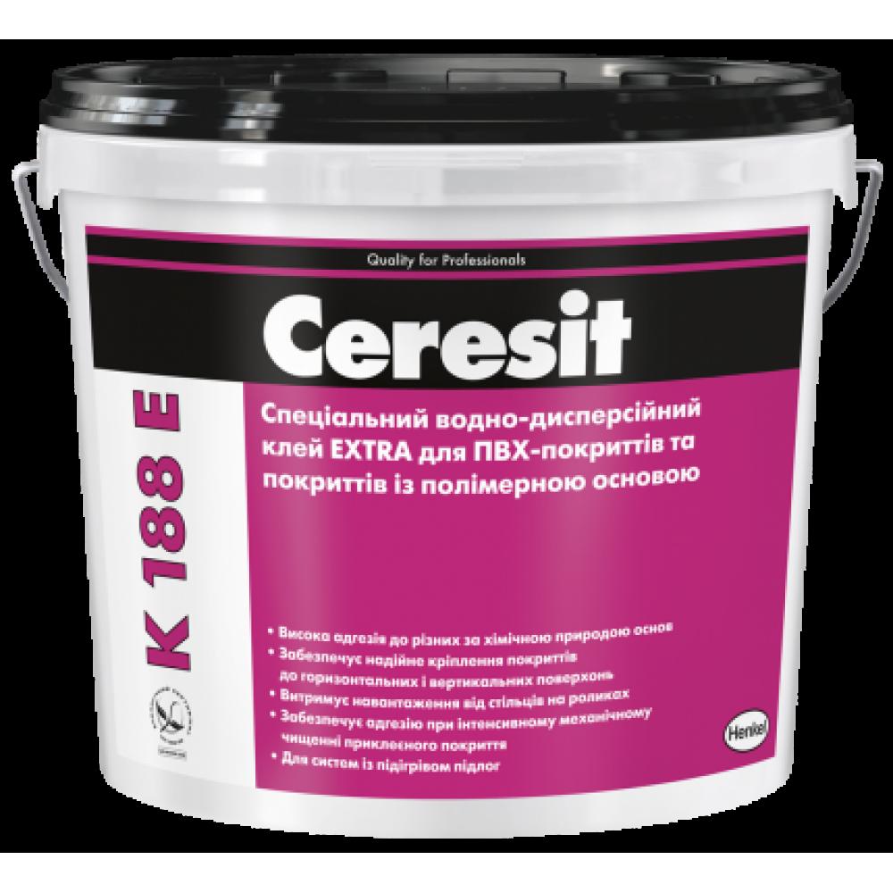 Клей для покриття пыдлоги Ceresit K 188E Extra, відро 12 кг