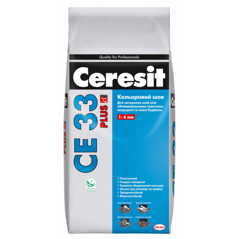 Cуміш для заповнення швів Ceresit CE 33 Plus Кольоровий шов (сірий), 2 кг