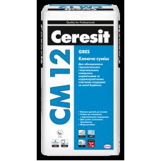 Клей для кріплення плитки великого формату Ceresit CM 12, мішок 25 кг.