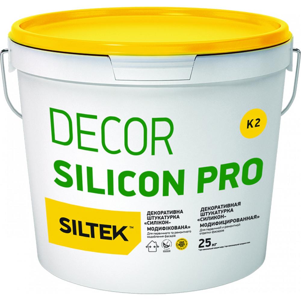 Штукатурка декоративна Decor Silicon Pro камінцева 1,5 мм, база DС (25 кг)