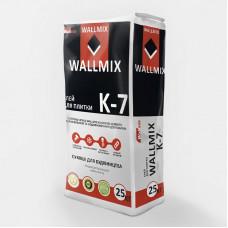 Клей для плитки для внутрішніх та зовнішніх робіт з підвищеною адгезією Wallmix K-7, 25кг