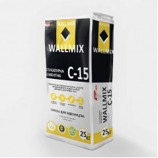 Штукатурка цементно-вапняна для внутрішніх та зовнішніх робіт Wallmix С-15, 25 кг