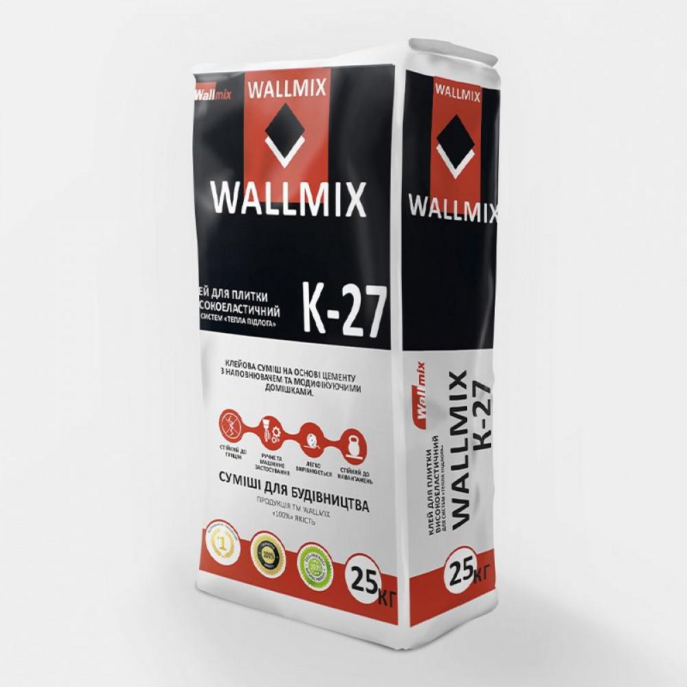 Клей для плитки високоеластичний Wallmix К-27, 25 кг